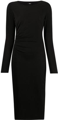 Liu Jo Button-Detail Ruched Midi Dress