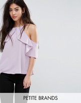 New Look Petite Ruffle High Neck Shell Top