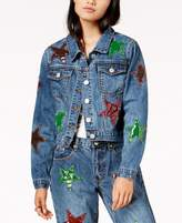 Glam by Glamorous Cotton Patched Trucker Jacket, Created for Macy's