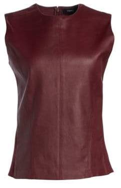 Theory Leather Sleeveless Top