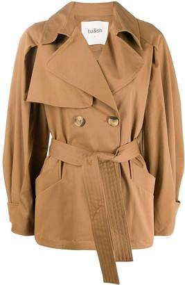BA&SH Tyson tie-waist trench jacket