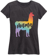 Instant Message Women's Women's Tee Shirts HEATHER - Heather Charcoal Rainbow 'Mama' Llama Relaxed-Fit Tee - Women & Plus