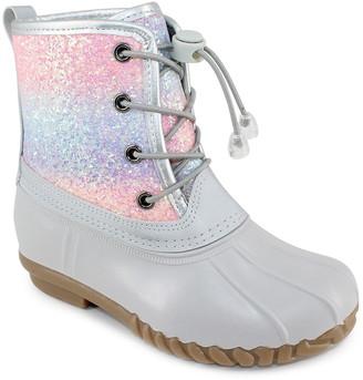 OLIVIA MILLER OMG Ombre Glitter Duck Boot