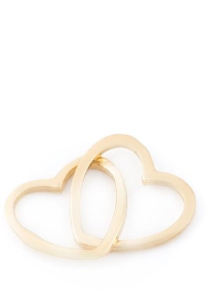 Loquet 18kt Yellow Gold Linked Hearts Charm