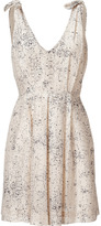 L'Agence LAgence Ivory and Navy Shoulder Tie Dress
