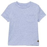 Gap Light Blue Heather Short Sleeve Pocket Tee