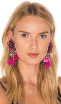 Ranjana Khan Flower Earring in Fuchsia.