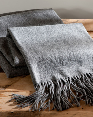A & R Cashmere Cashmere & Wool Blend Waterweave Throw