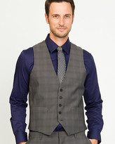 Le Château Woven Check City Fit Vest