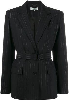 Kenzo pinstripe belted blazer