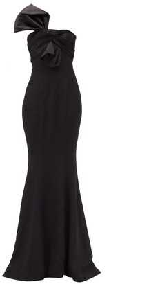 Alexandre Vauthier Bow-front One-shoulder Satin-crepe Dress - Black