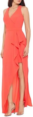 Xscape Evenings Halter Crepe Gown