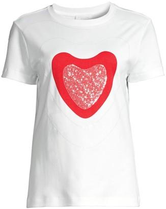 Escada Sport Sparkling Red Heart T-Shirt