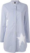 Lorena Antoniazzi oversized star stripe shirt - women - Cotton/Lyocell - 38