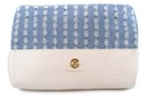 CXL BY CHRISTIAN LACROIX Tri-fold Top Zip Denim Cosmetic Case.