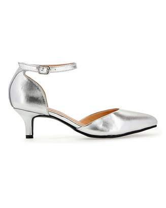 Jd Williams Kitten Heel Two Part Shoes EEE Fit