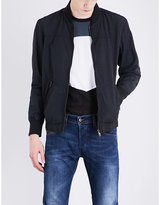 Diesel J-pat cotton-blend bomber jacket