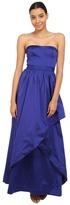 Adrianna Papell Strapless Taffeta Ball Gown w/ Cross Skirt Detail