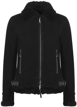 Giuseppe Zanotti Suede Shearling Jacket