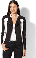 New York & Co. 7th Avenue - Moto Jacket Black & White