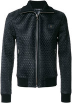 Dolce & Gabbana Giubbotto full zip jacket - men - Calf Leather/Sheep Skin/Shearling/Polyamide/Zamak - 46