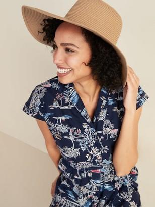 Old Navy Braided Wide-Brim Sun Hat for Women