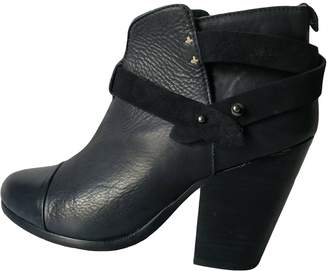 Rag & Bone Navy Leather Ankle boots