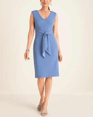 Adrianna Papell Tie-Waist Sheath Dress