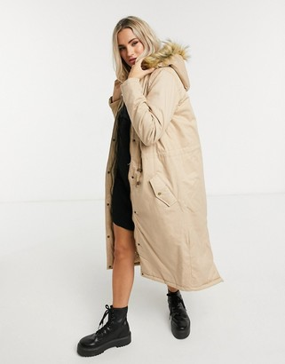 Brave Soul genevive maxi parka coat