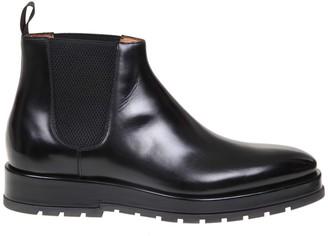 Santoni Boots In Black Leather