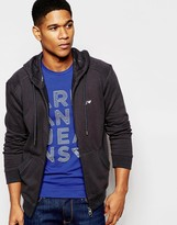Armani Jeans Zip Up Hoodie With Logo