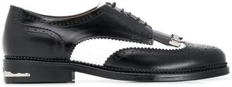 Toga Virilis Two-Tone Lace-Up Shoes