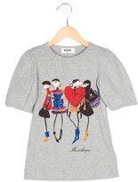 Moschino Girls' Illustration Print Short Sleeve Top