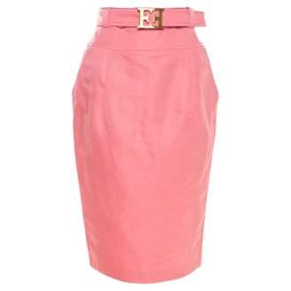 Escada Pink Linen Skirts