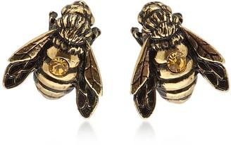 Alcozer & J Golden Brass Apis Florea Earrings