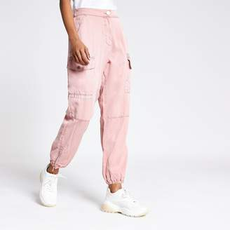 River Island Womens Petite Pink Hailey utility trousers