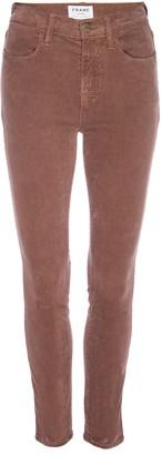 Frame Le High Waisted Skinny Corduroy Pants