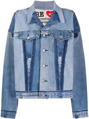 Diesel Red Tag Patchwork Denim Jacket