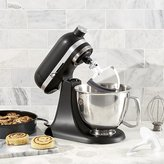 Crate & Barrel KitchenAid ® Artisan Matte Black Mini Mixer with Flex Edge Beater