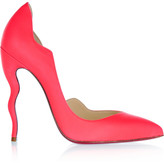 Christian Louboutin Dalida 120 neon leather pumps
