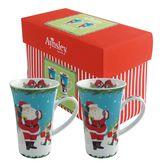 Aynsley Santa and Elves Latte Mugs