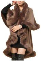 Hittime TR.OD Lady Nice Imitation Fur Warm Soft Winter Cappa Cloak Cape Coat Long