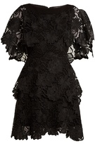 Osman Bethany tiered guipure-lace dress