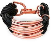 Saachi Black & Rose Gold-Tone C String Bracelet