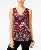 INC International Concepts Printed Layered Top, Only at Macy's