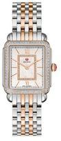 Michele Deco II Diamond, Mother-Of-Pearl, 18K Rose Gold & Stainless Steel Bracelet Watch