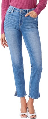 Paige Cindy High Waist Split Hem Straight Leg Jeans