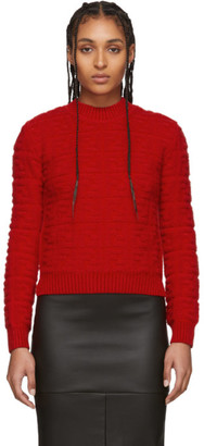 Fendi Red Forever Embossed Sweater