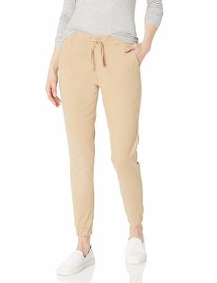 Southpole Women's Long Twill Stretch Jogger Pants