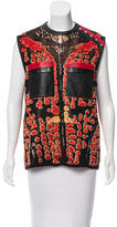 Proenza Schouler Leather-Accented Sleeveless Top